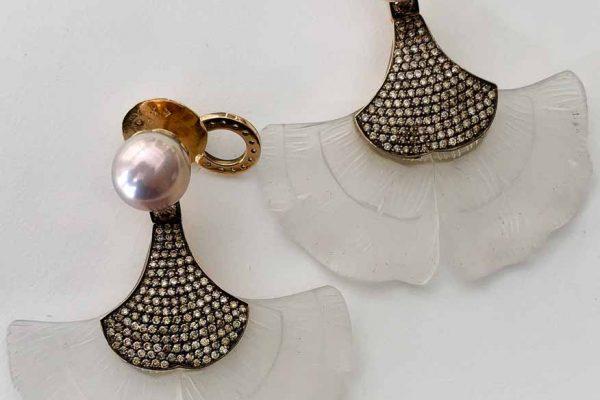 silvia furmanovich ginko leaf earrings