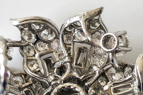 vintage bulgari diamond ear clips