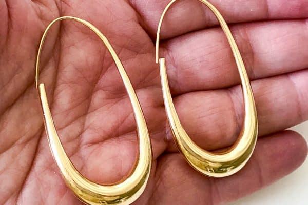 michael good oblong hoop earrings