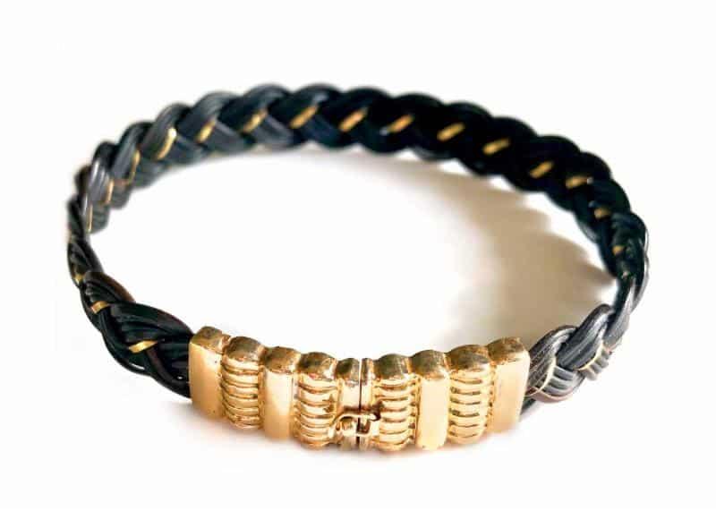 elephant hair 14k gold bracelet