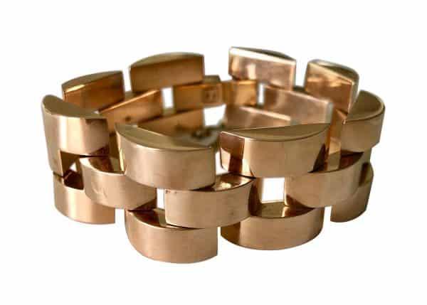 forties gold tank bracelet