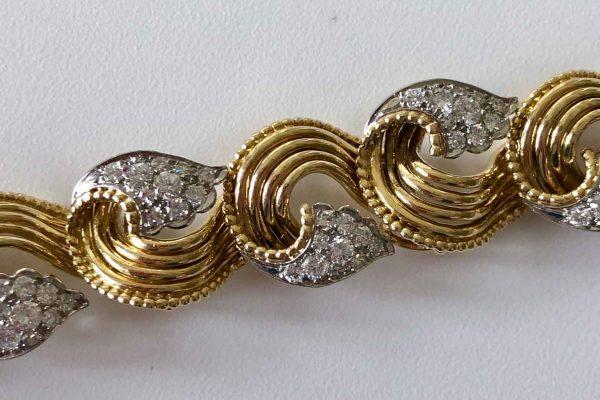 cartier fifties gold and diamond bracelet