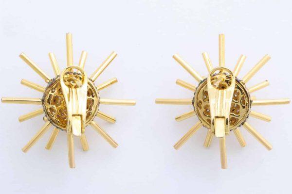umrao gold diamond sputnik earrings
