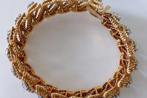 van cleef and arpels gold and diamond bracelet