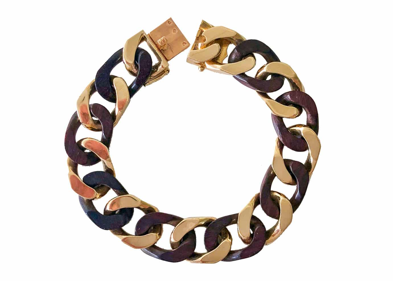 van cleef and arpels wood and gold bracelet