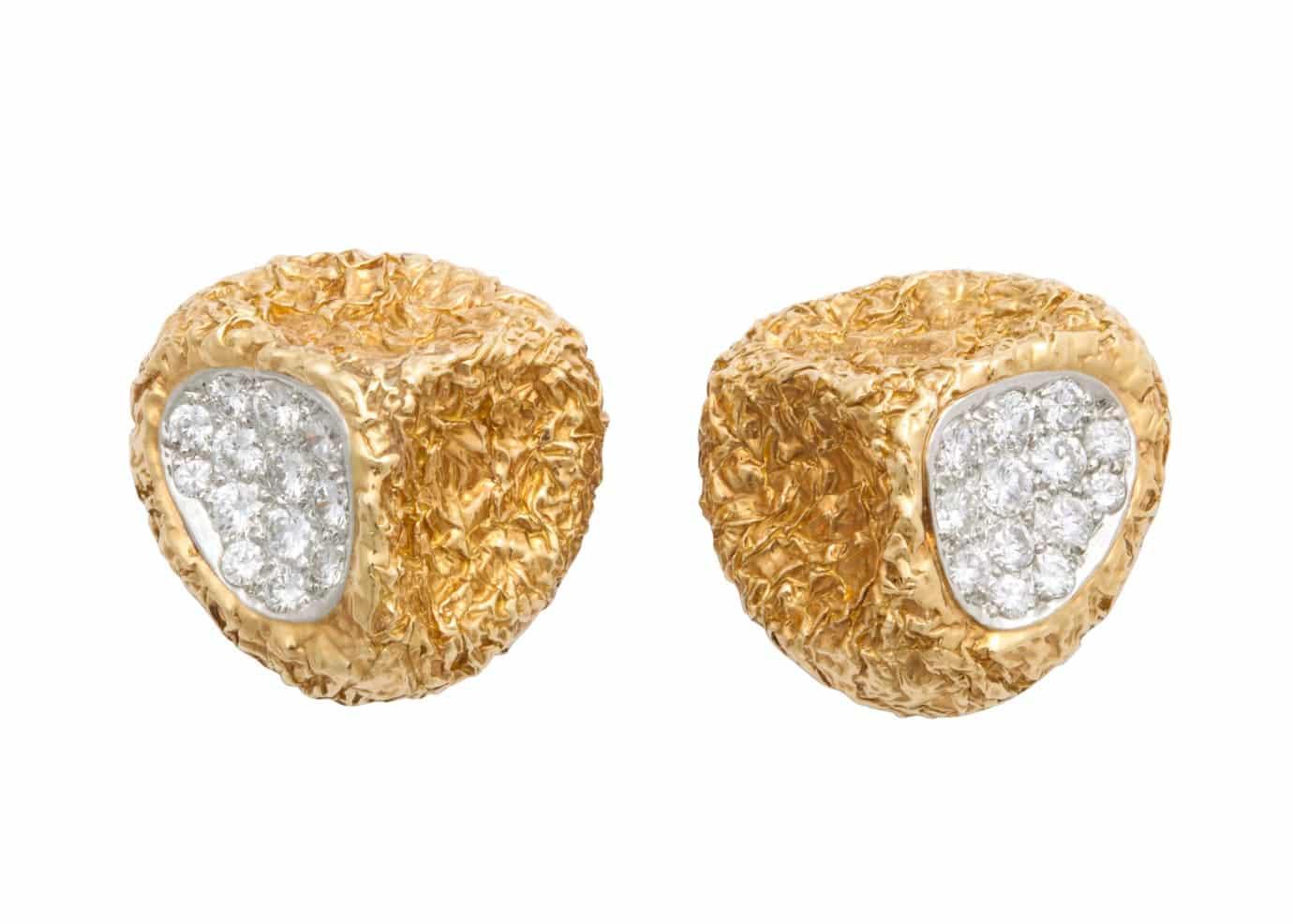 vca modernist textured earrings