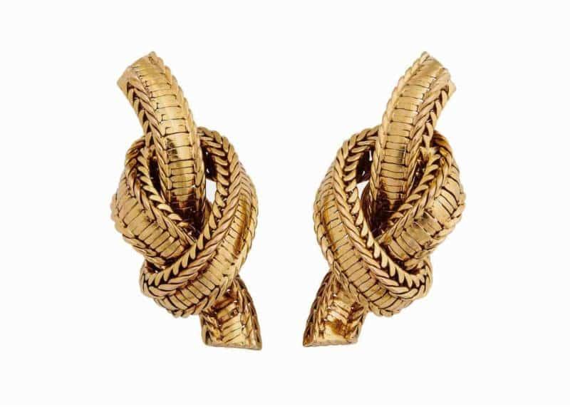 pierre sterle rope twist earrings ca. 1950's
