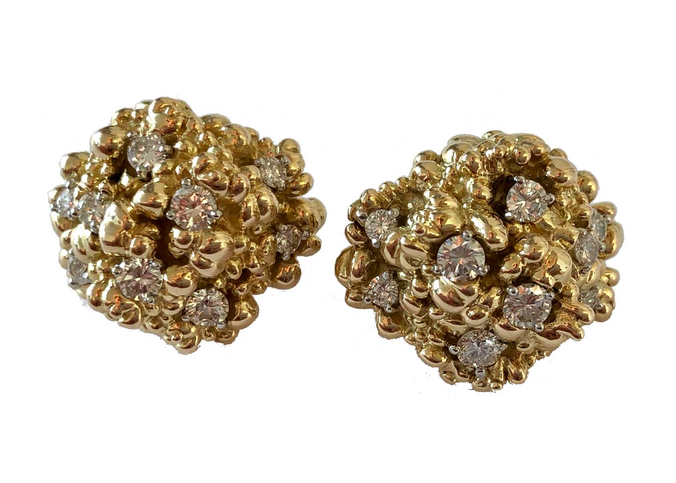 vintage cartier gold and diamond nuggets