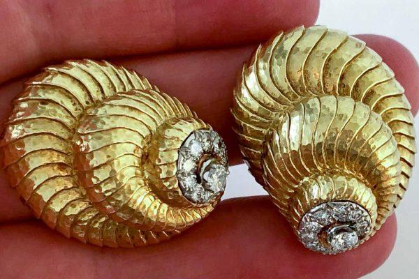 david webb shell earrings