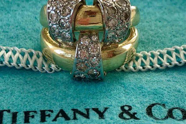 schlumberger gold diamond ring