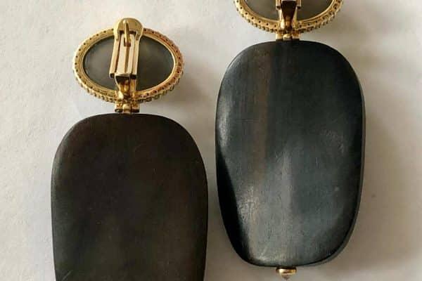 furmanovich volcanic rock and ebony earrings