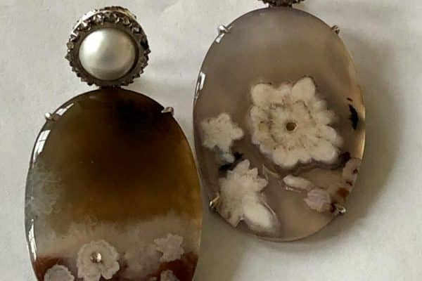silvia furmanovich turkish agate earrings
