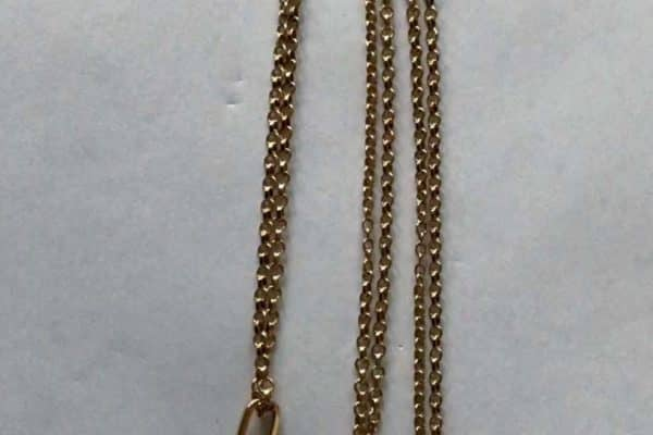 quartz fob necklace