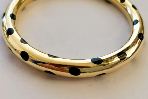 tiffany black jade inlay cuff