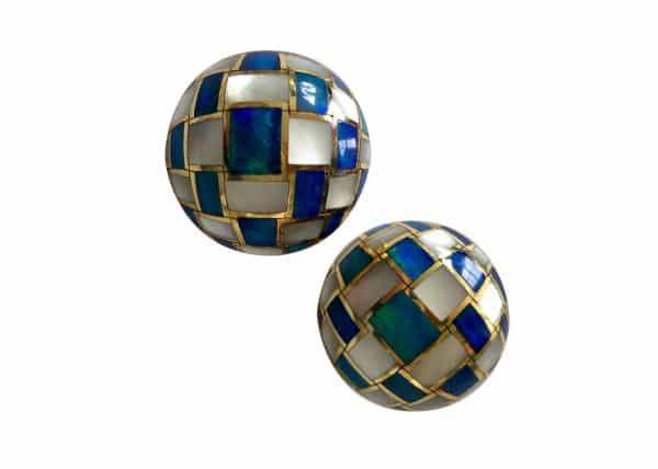 tiffany opal mosaic earrings