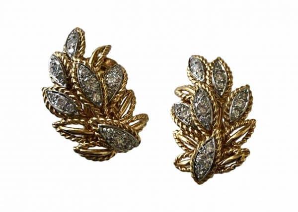 van cleef and arpels leaf earrings