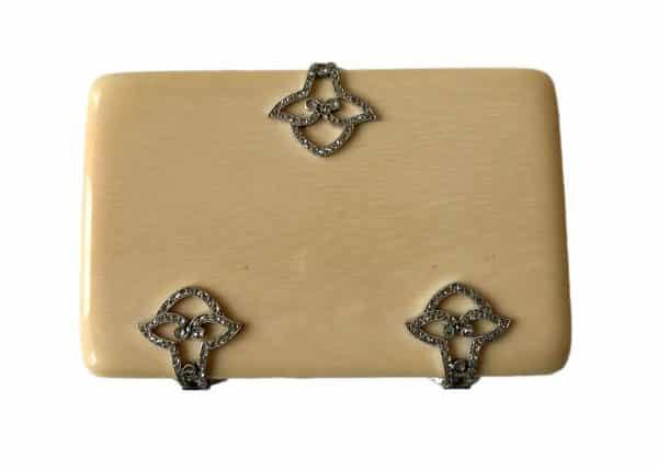 french agate diamond box