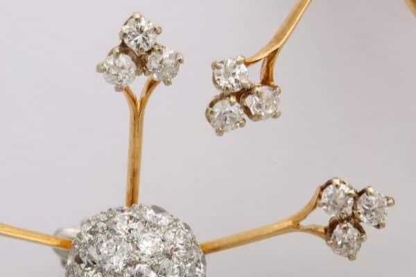 vintage starburst earrings