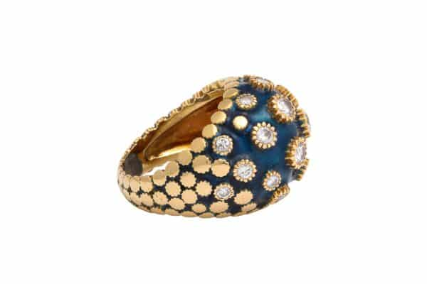 van cleef and arpels blue enamel ring