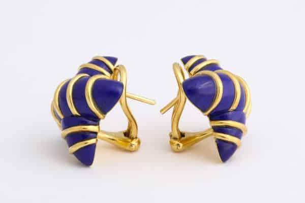 """angela cummings lapis """"x"""" earrings"""