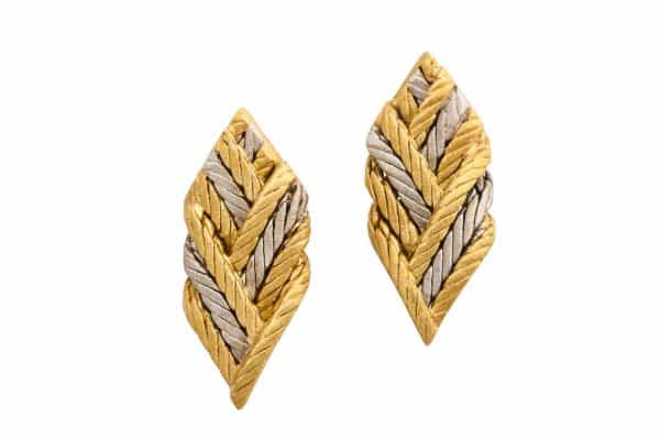 Buccellati Bi-Color Leaf Earrings