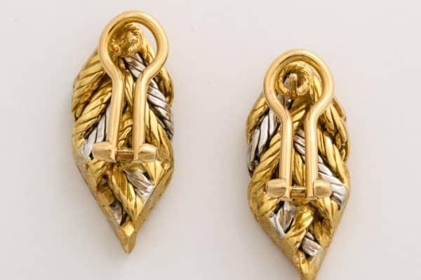 Buccellati Bi-Color Leaf Earrings