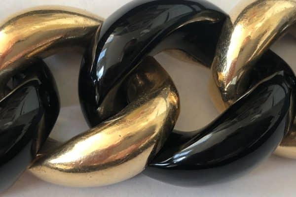 Seaman Schepps Onyx Curb link bracelet